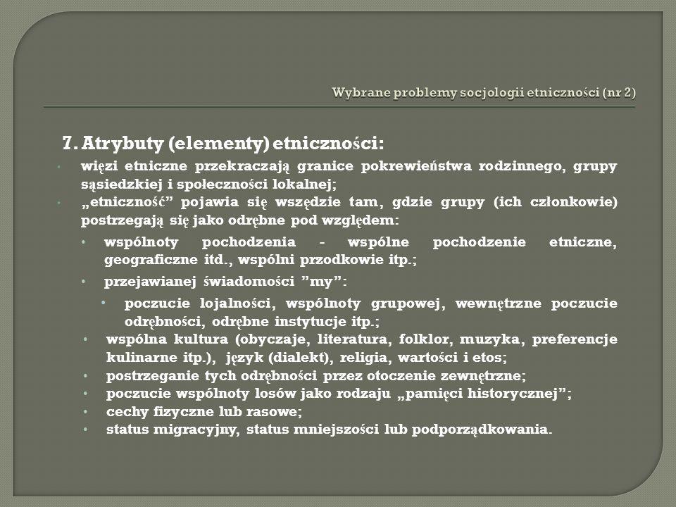 Wybrane problemy socjologii etniczności (nr 2)