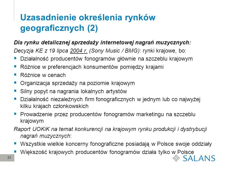 Uzasadnienie określenia rynków geograficznych (2)