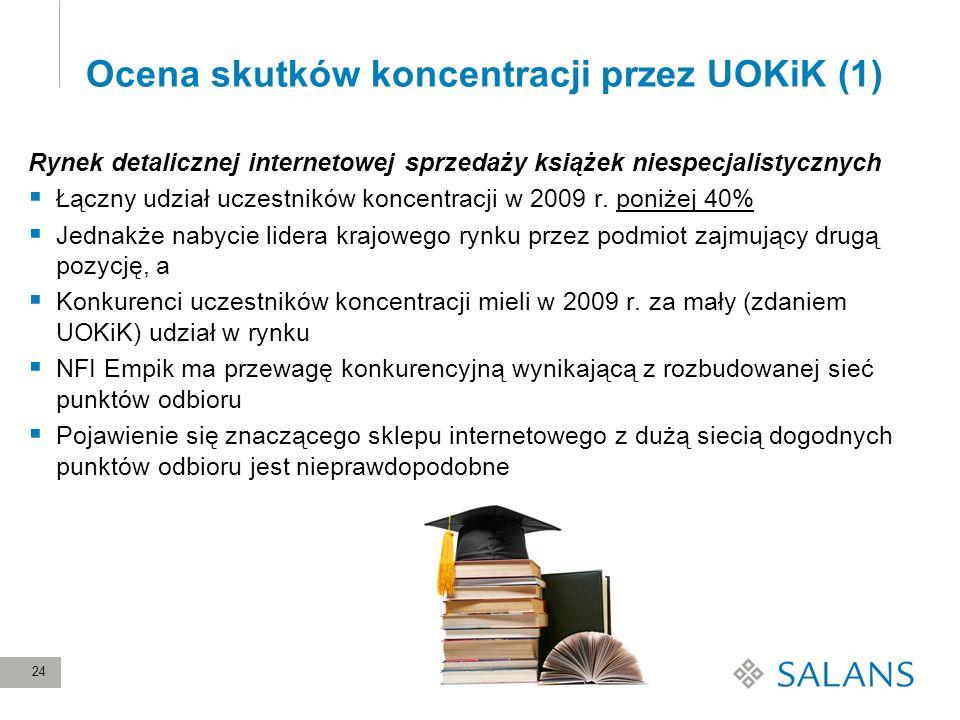 Ocena skutków koncentracji przez UOKiK (1)