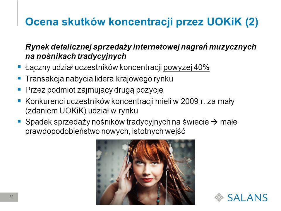 Ocena skutków koncentracji przez UOKiK (2)