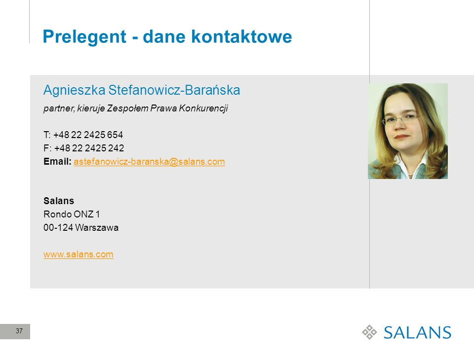 Prelegent - dane kontaktowe