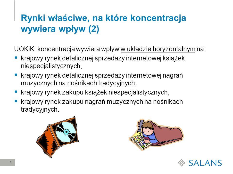 Rynki właściwe, na które koncentracja wywiera wpływ (2)
