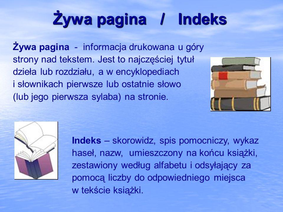 Żywa pagina / Indeks