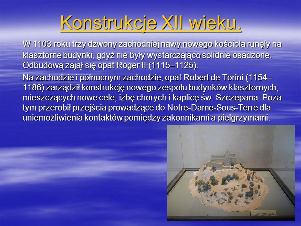 Konstrukcje XII wieku.