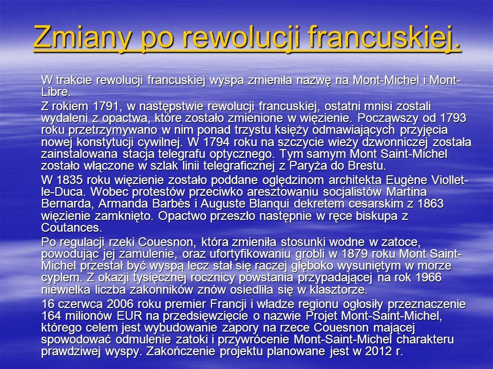 Zmiany po rewolucji francuskiej.