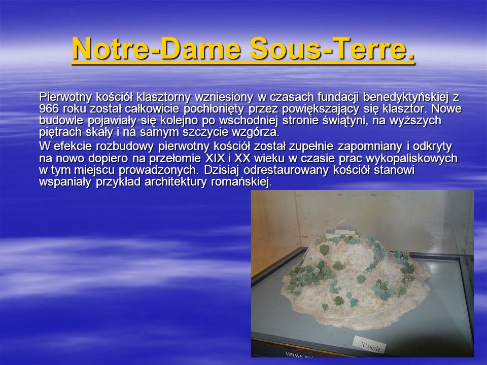 Notre-Dame Sous-Terre.