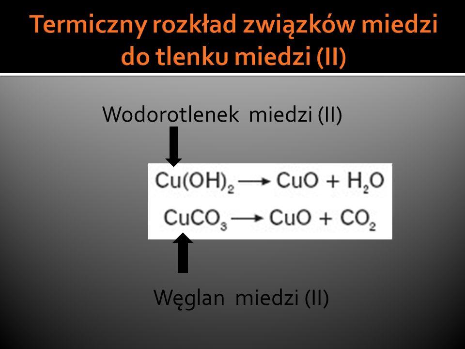 Termiczny rozkład związków miedzi do tlenku miedzi (II)