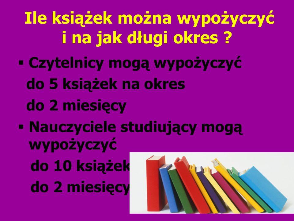 Ile książek można wypożyczyć i na jak długi okres