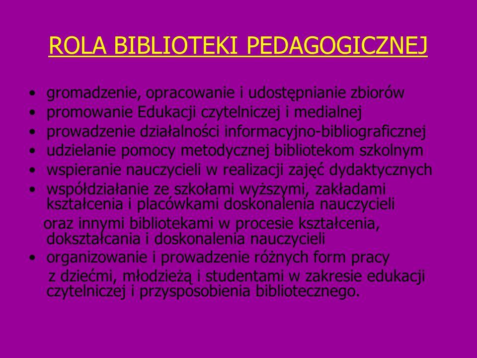 ROLA BIBLIOTEKI PEDAGOGICZNEJ