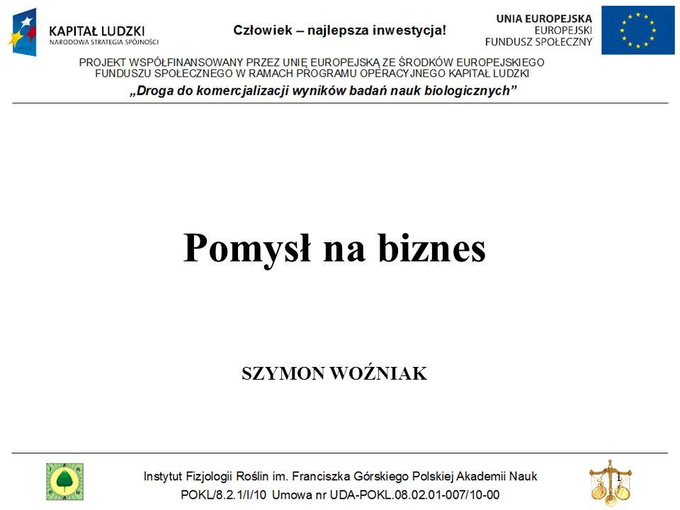 Pomysł na biznes Szymon woźniak