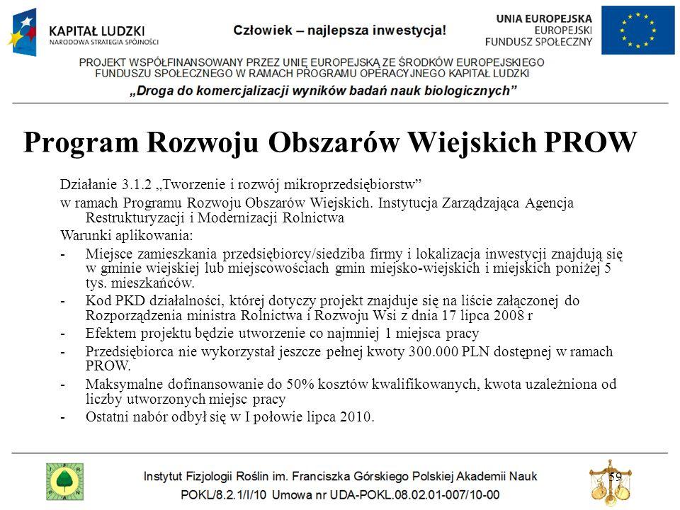 Program Rozwoju Obszarów Wiejskich PROW