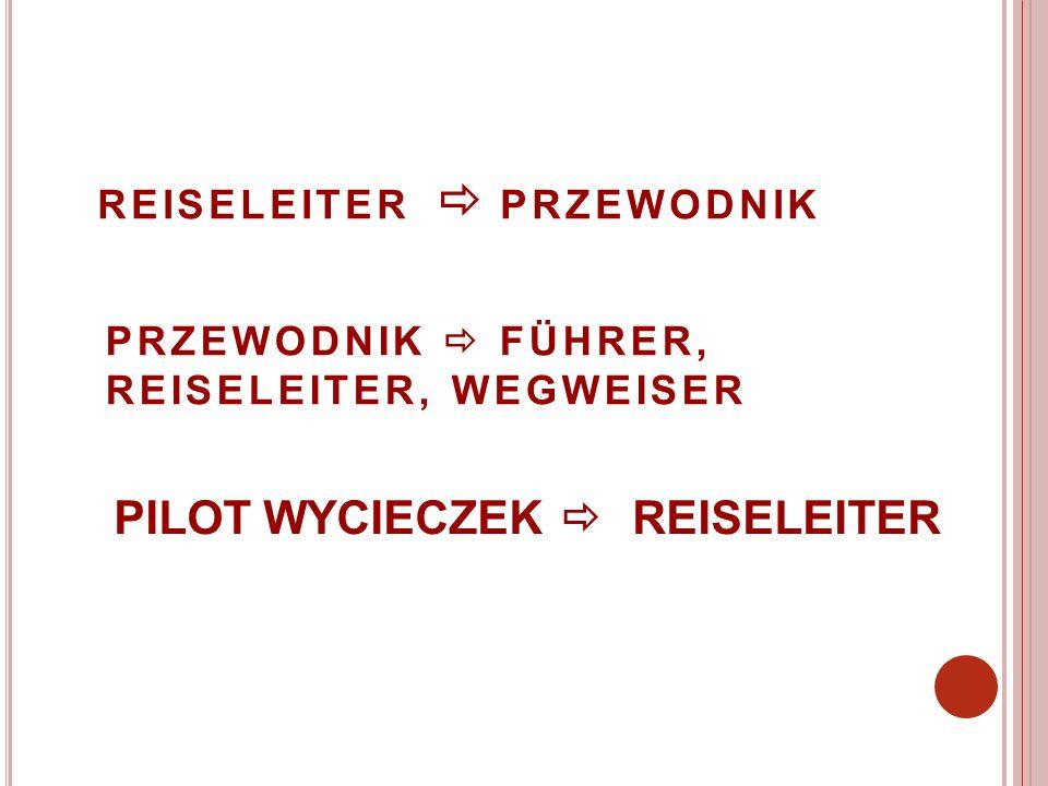 PILOT WYCIECZEK  REISELEITER