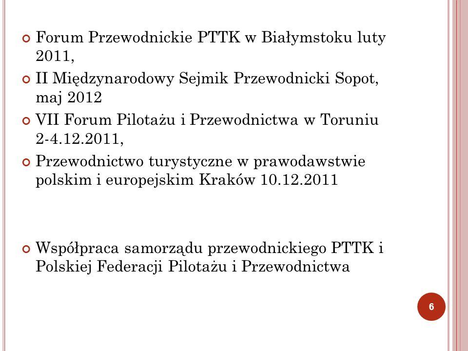 Forum Przewodnickie PTTK w Białymstoku luty 2011,