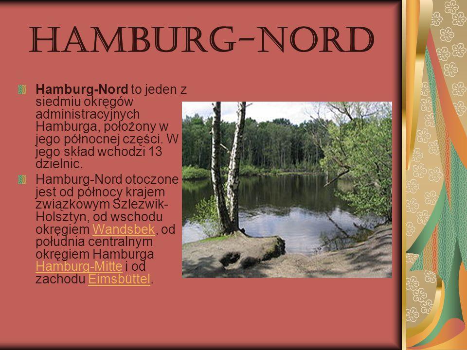 Hamburg-Nord Hamburg-Nord to jeden z siedmiu okręgów administracyjnych Hamburga, położony w jego północnej części. W jego skład wchodzi 13 dzielnic.