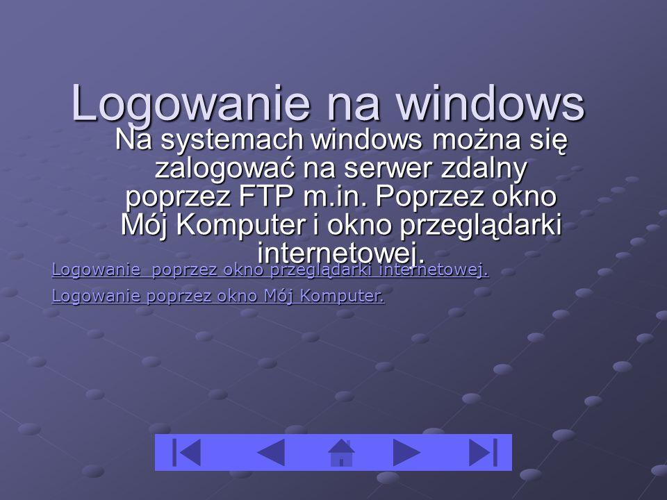 Logowanie na windows
