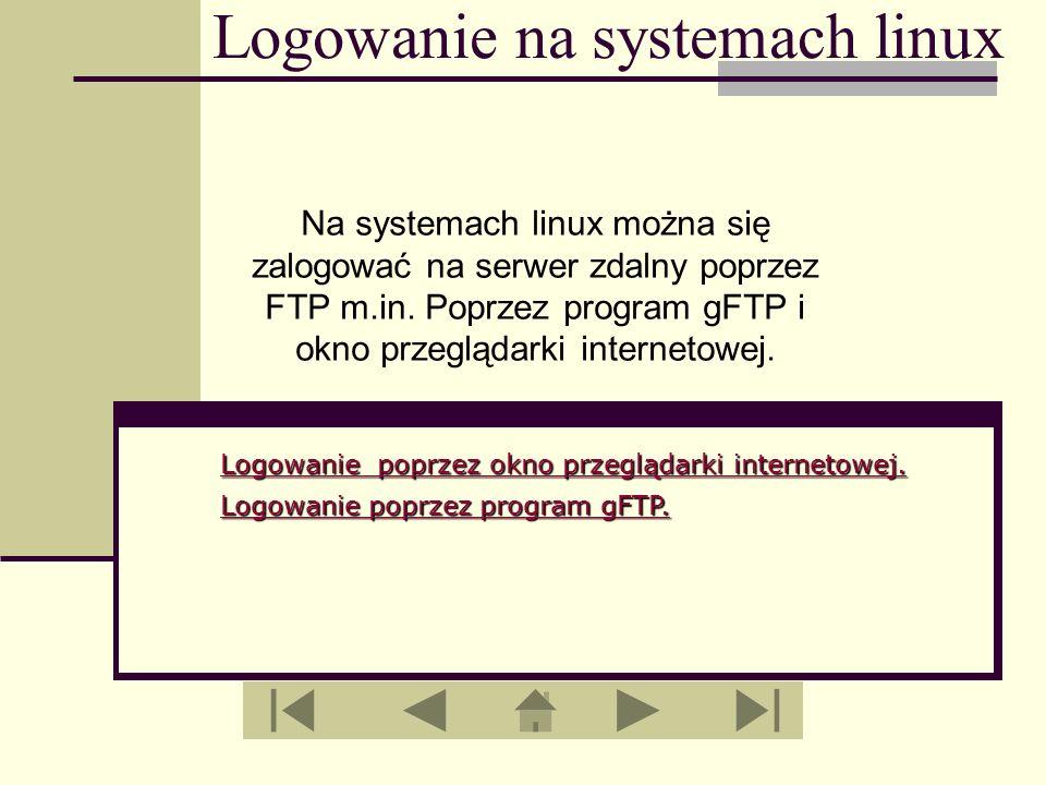 Logowanie na systemach linux