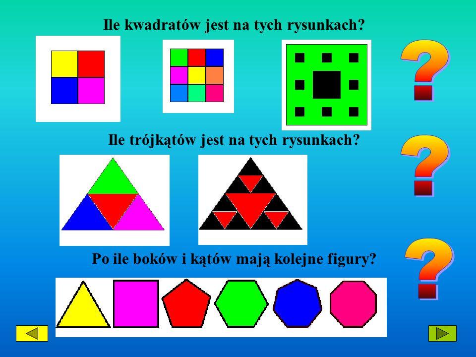 Ile kwadratów jest na tych rysunkach