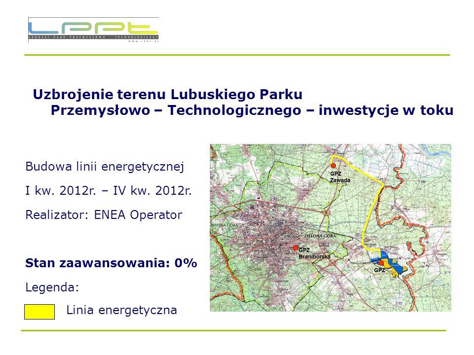 Uzbrojenie terenu Lubuskiego Parku Przemysłowo – Technologicznego – inwestycje w toku