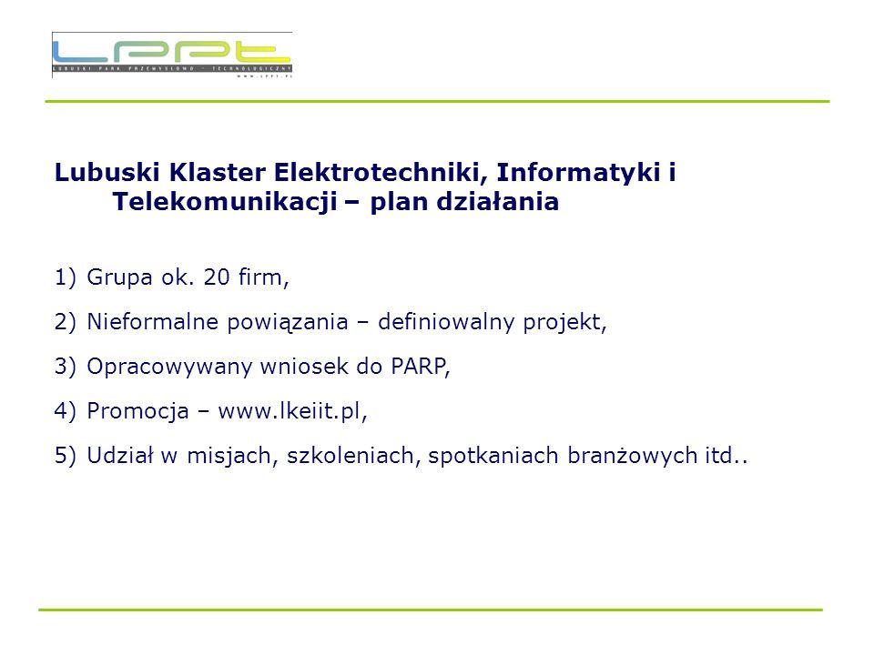 Lubuski Klaster Elektrotechniki, Informatyki i Telekomunikacji – plan działania