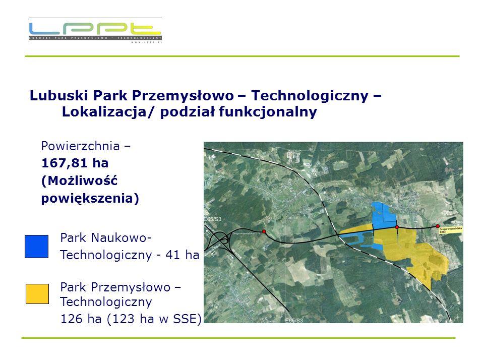 Lubuski Park Przemysłowo – Technologiczny – Lokalizacja/ podział funkcjonalny