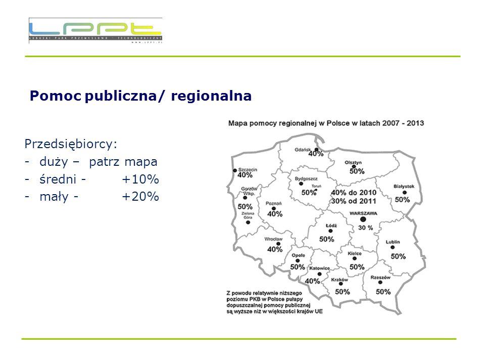 Pomoc publiczna/ regionalna
