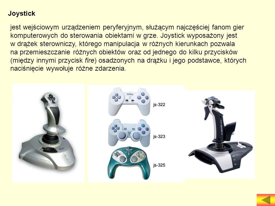 Joystick jest wejściowym urządzeniem peryferyjnym, służącym najczęściej fanom gier.