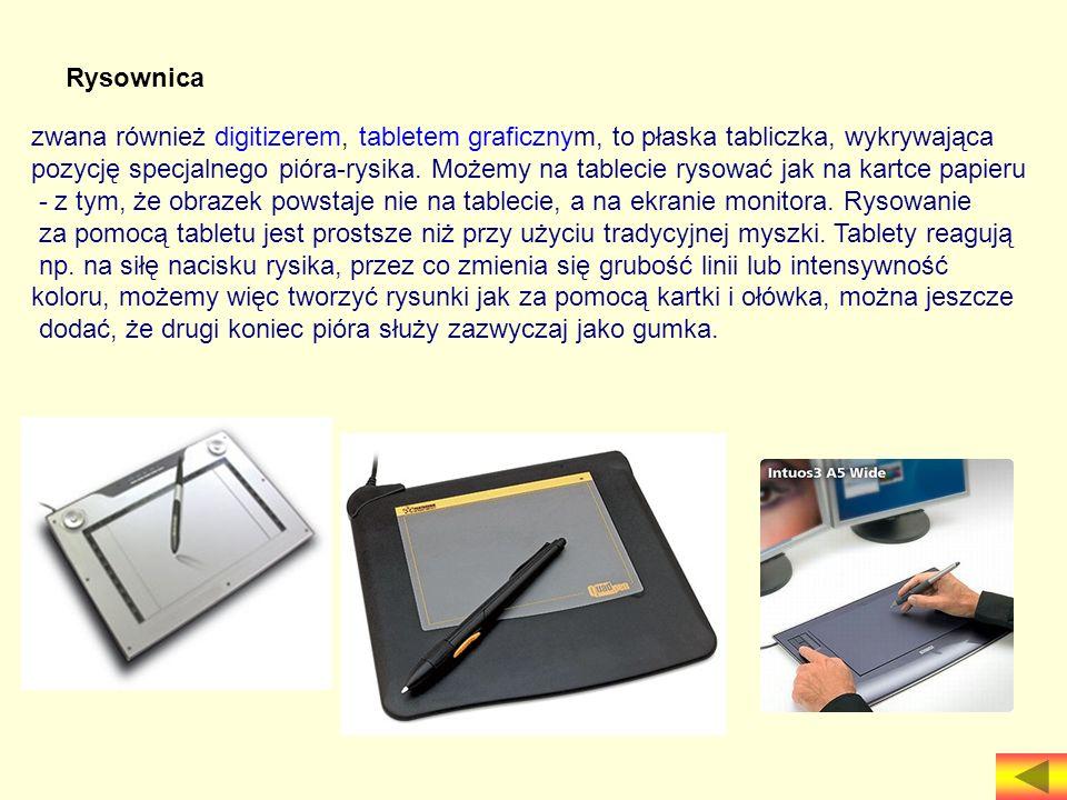 Rysownica zwana również digitizerem, tabletem graficznym, to płaska tabliczka, wykrywająca.