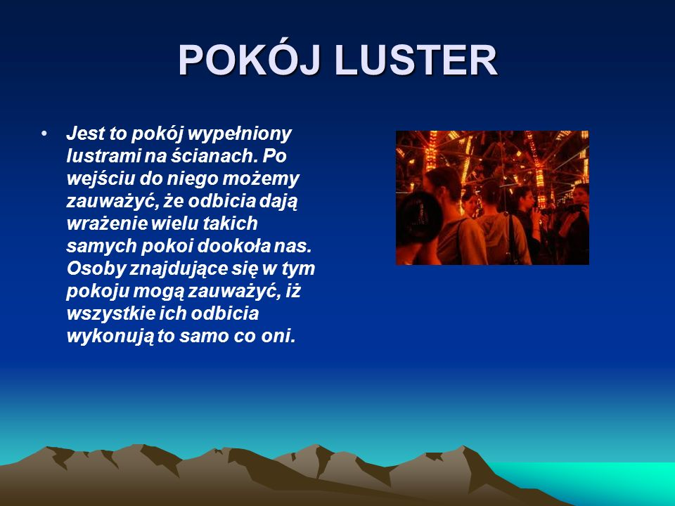 POKÓJ LUSTER