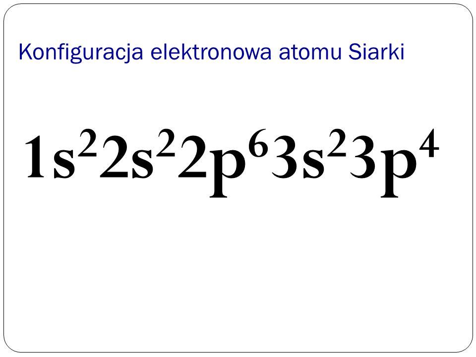 Konfiguracja elektronowa atomu Siarki