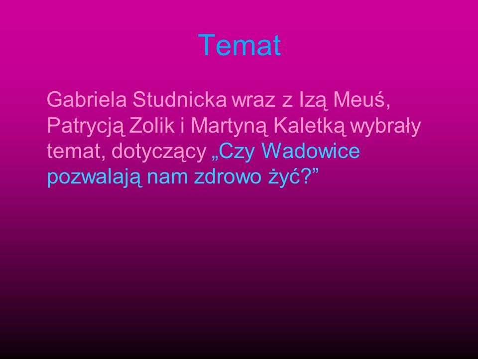 """Temat Gabriela Studnicka wraz z Izą Meuś, Patrycją Zolik i Martyną Kaletką wybrały temat, dotyczący """"Czy Wadowice pozwalają nam zdrowo żyć"""