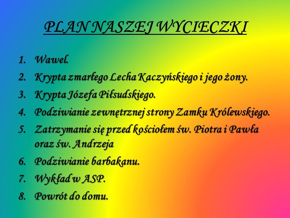 PLAN NASZEJ WYCIECZKI Wawel.