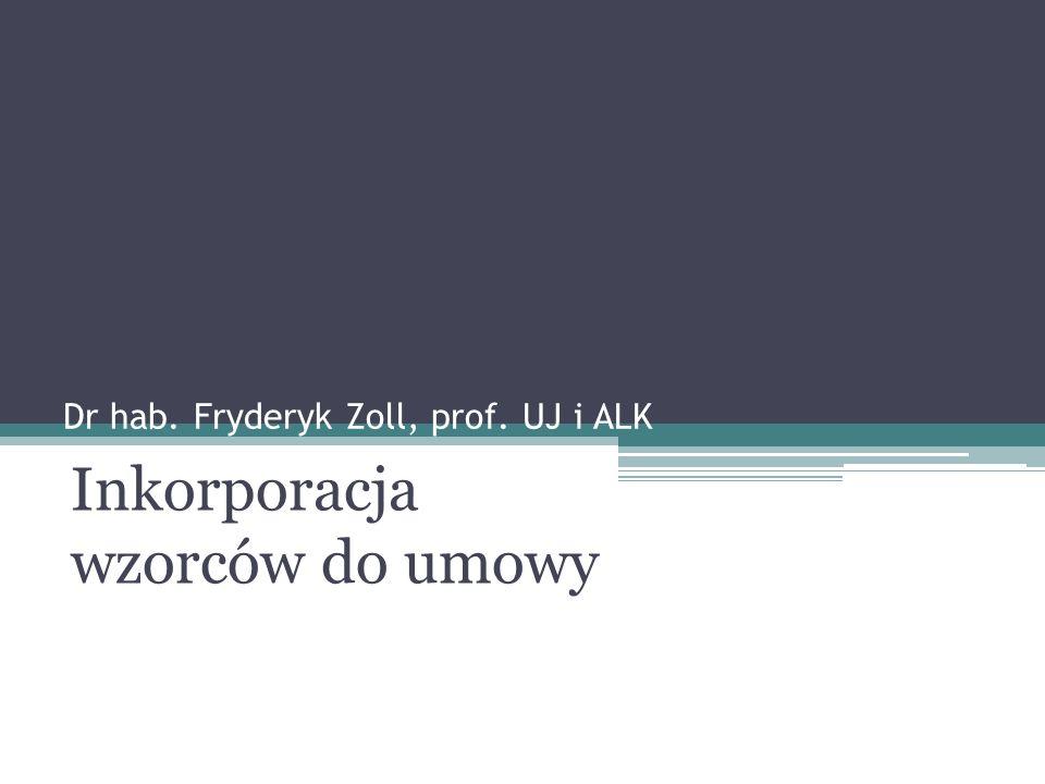 Dr hab. Fryderyk Zoll, prof. UJ i ALK