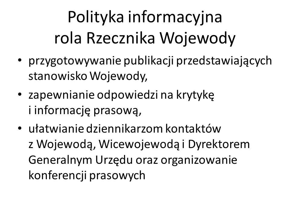 Polityka informacyjna rola Rzecznika Wojewody