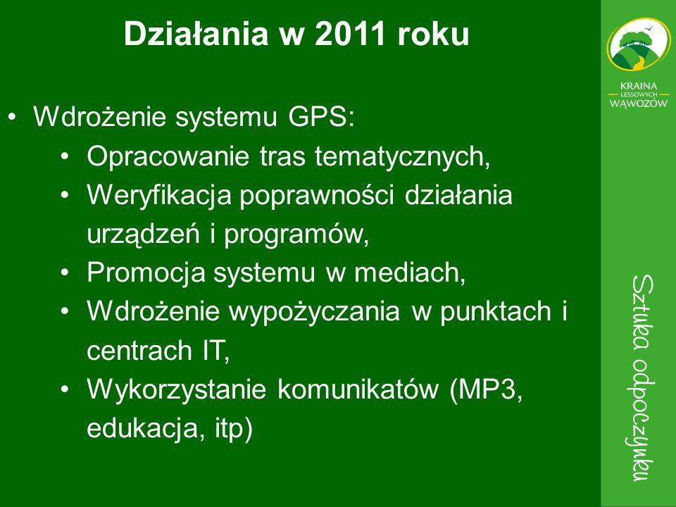 Działania w 2011 roku Wdrożenie systemu GPS: