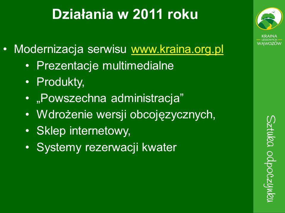 Działania w 2011 roku Modernizacja serwisu www.kraina.org.pl
