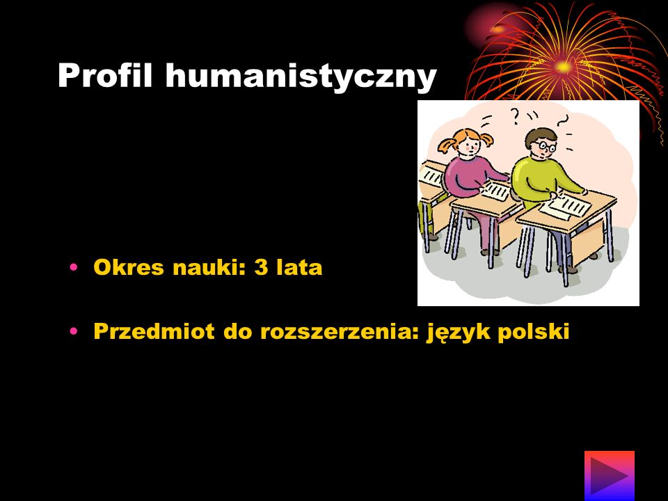 Profil humanistyczny Okres nauki: 3 lata
