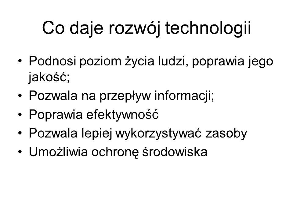 Co daje rozwój technologii