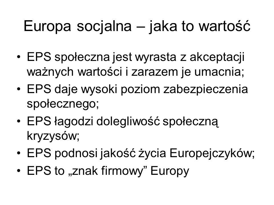 Europa socjalna – jaka to wartość