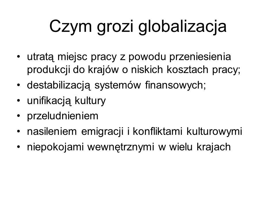 Czym grozi globalizacja