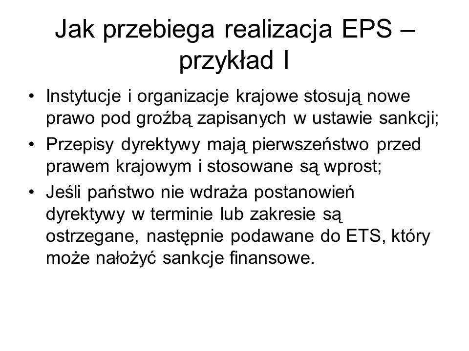 Jak przebiega realizacja EPS – przykład I