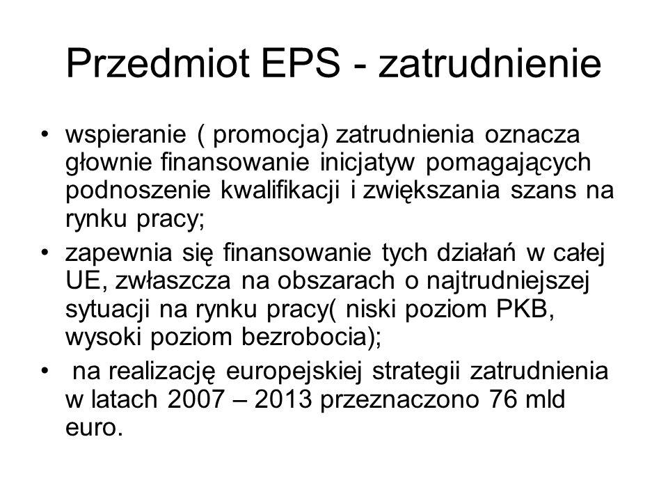 Przedmiot EPS - zatrudnienie