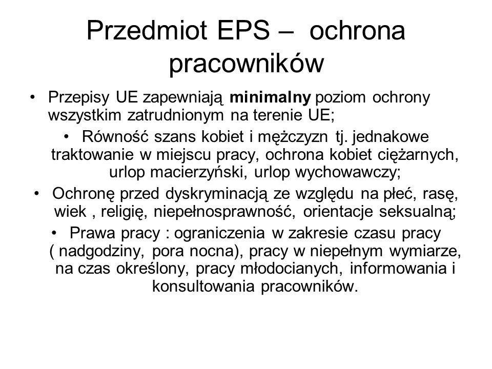 Przedmiot EPS – ochrona pracowników