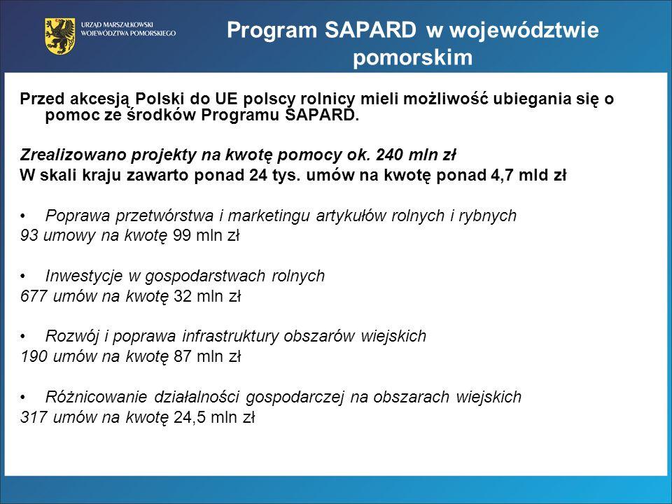 Program SAPARD w województwie pomorskim