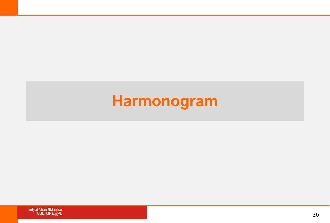 Harmonogram 26