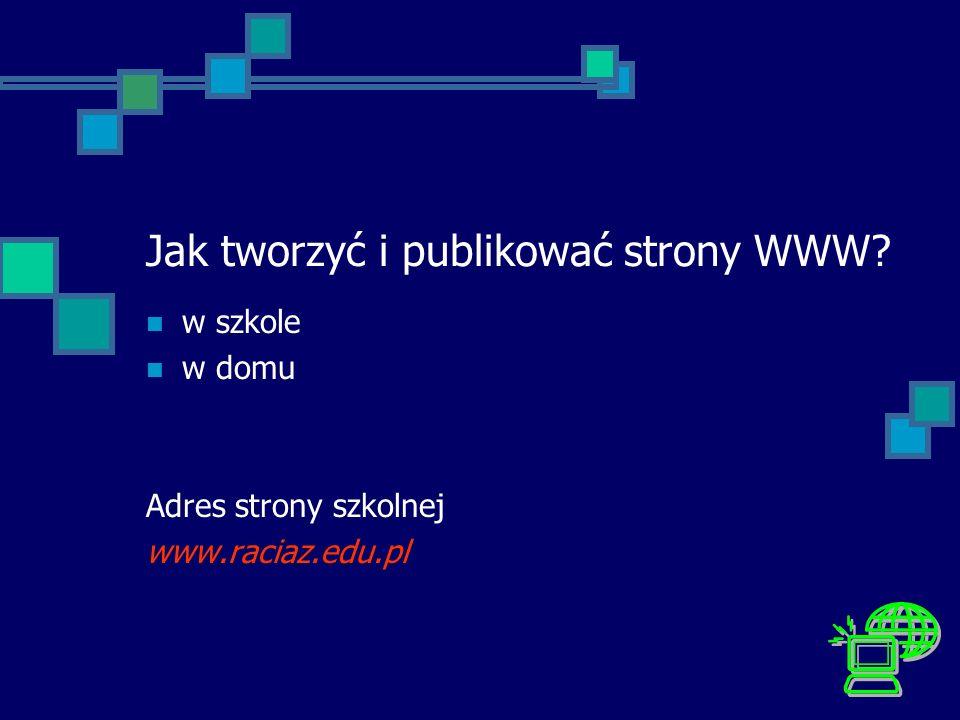Jak tworzyć i publikować strony WWW