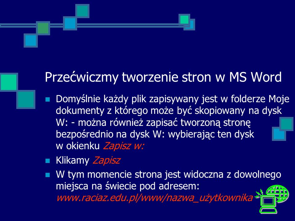 Przećwiczmy tworzenie stron w MS Word