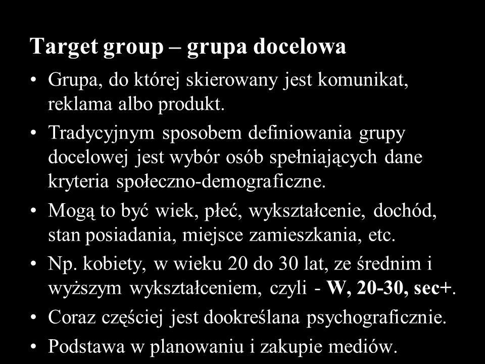 Target group – grupa docelowa
