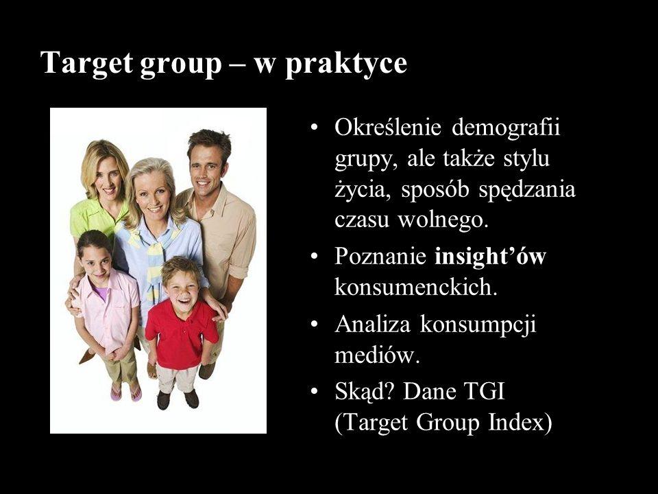 Target group – w praktyce