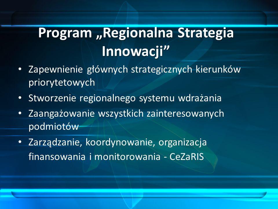 """Program """"Regionalna Strategia Innowacji"""