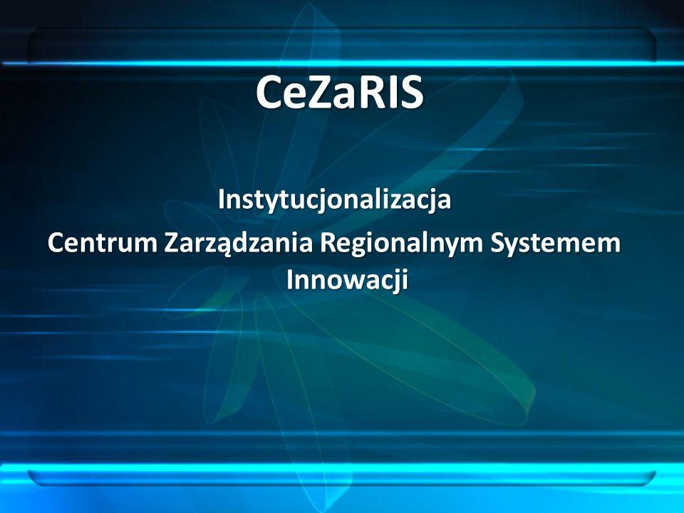 Instytucjonalizacja Centrum Zarządzania Regionalnym Systemem Innowacji